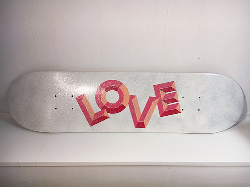 Glitter LOVE Canadian Maple Skate Deck