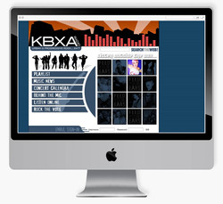 KBXA Radio mock-up
