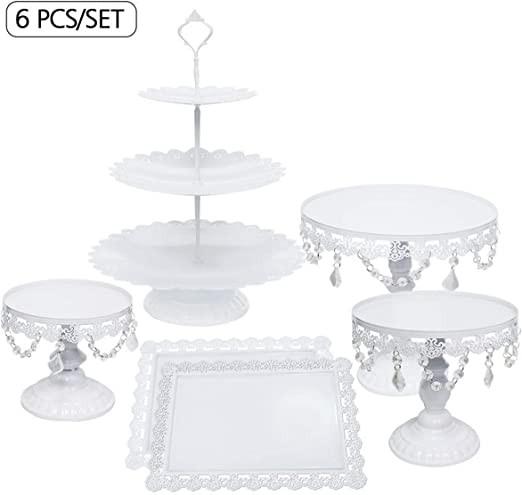 Several Desert Stands and Cake Pedestals