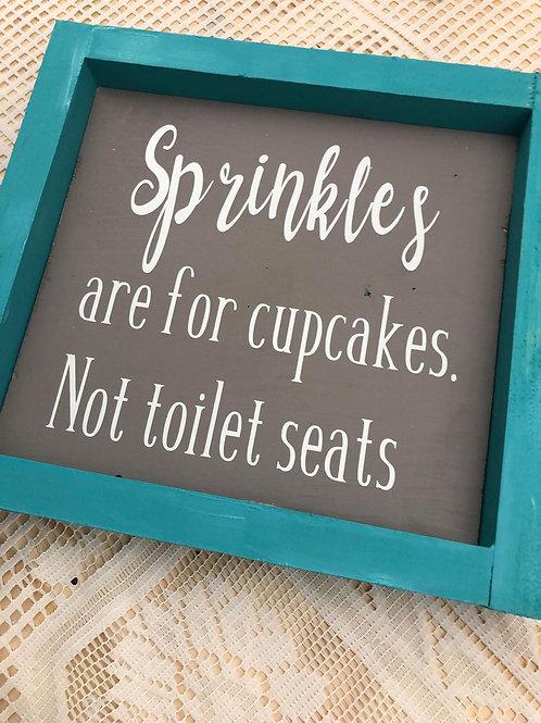 Sprinkles Bathroom Sign