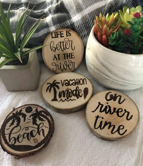 Custom Woodburned Coasters