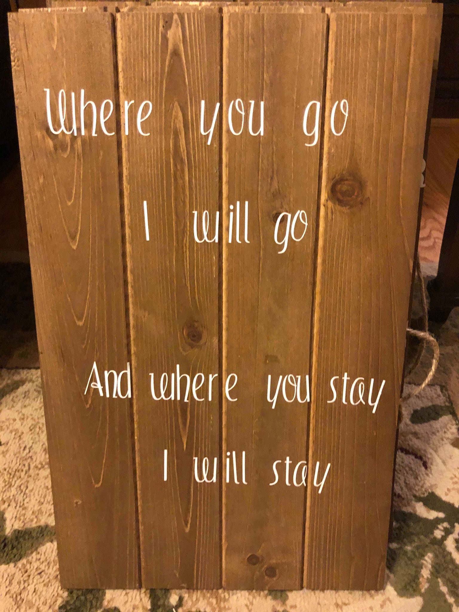 Where you go, I will go