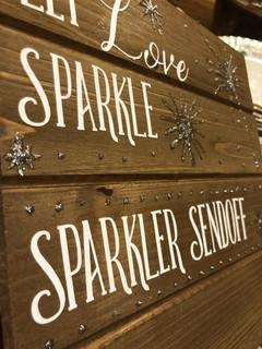 Sparkler send off