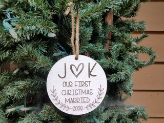 Personalized Woodburned Ornaments
