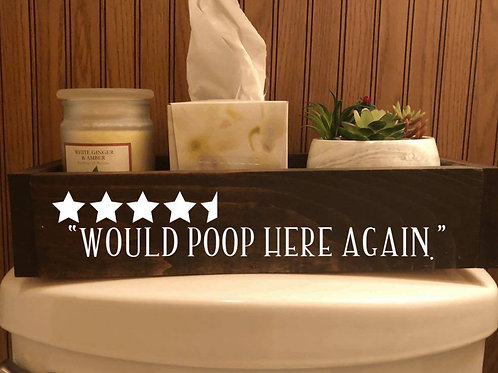 Funny Toilet Decor Boxes for Bathrooms | Humorous Bathroom Sayings | Nice Butt W