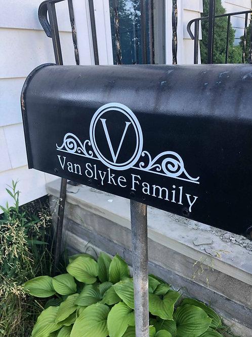 Last Name Mailbox Decals