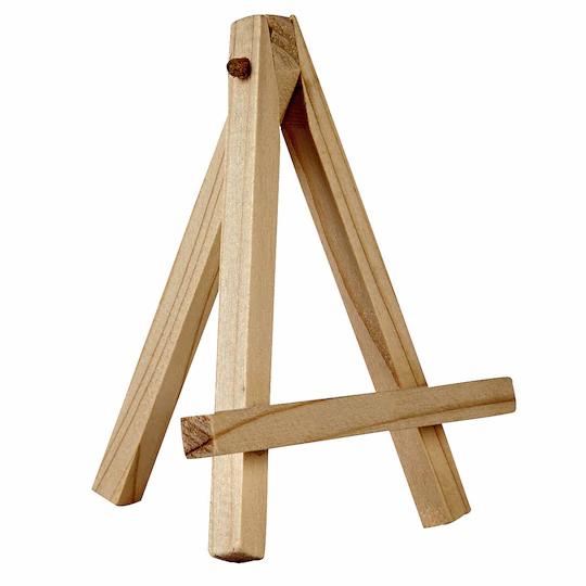 Mini wooden easels