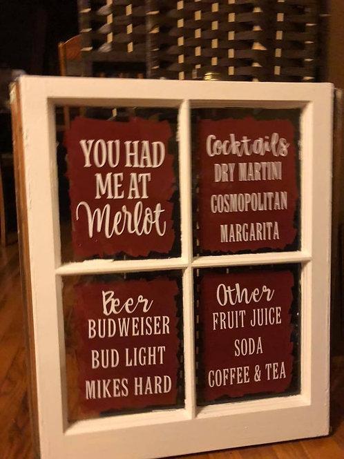 Customizable Bar menu Window