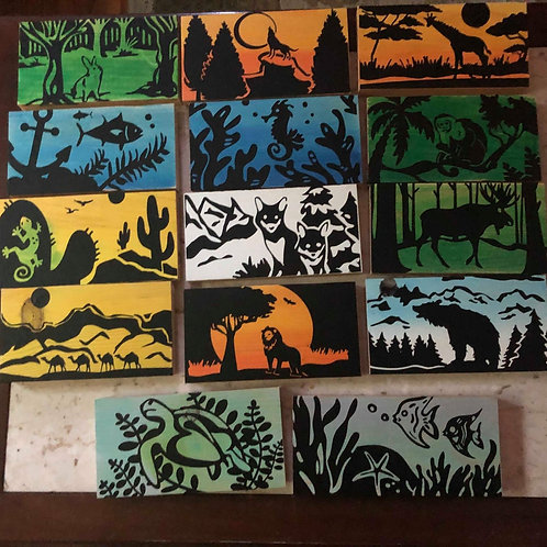 Animal Silhouette Signs