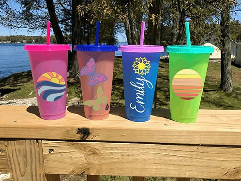 Customized Color Changing Cups