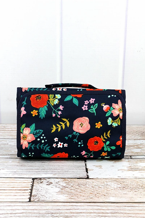 Spring Blossoms Roll-up Makeup Case