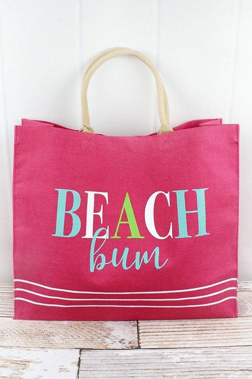 Beach Bum Jute Tote