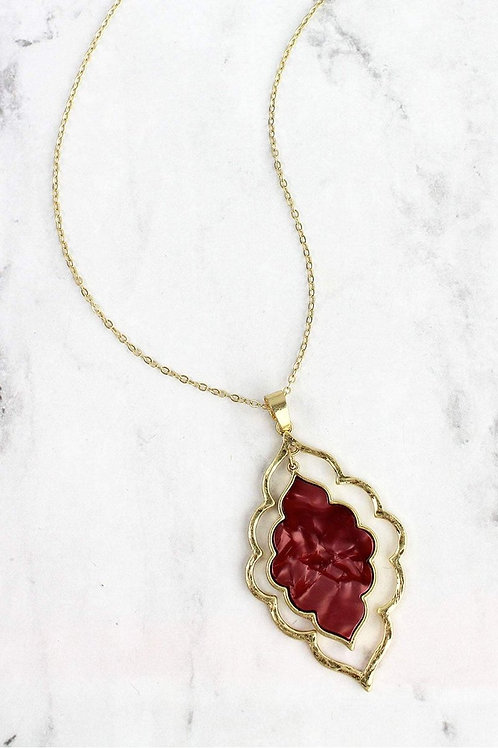 Crimson Filigree Moroccan Necklace *also available in dark blue*