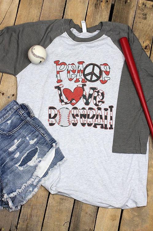 Love Baseball Raglan