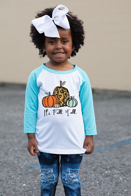 Fall Y'all Kids Raglan