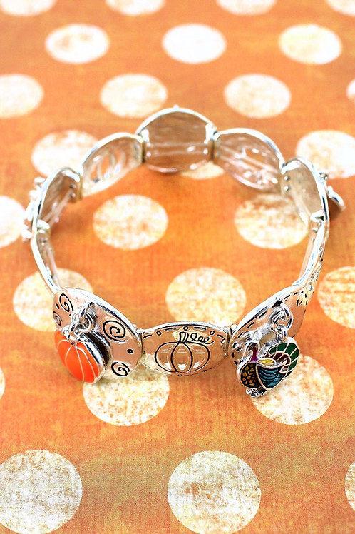 Silvertone Thanksgiving Bracelet