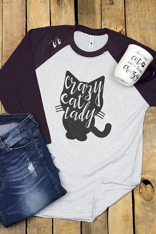 Crazy Cat Lady 3/4 Raglan