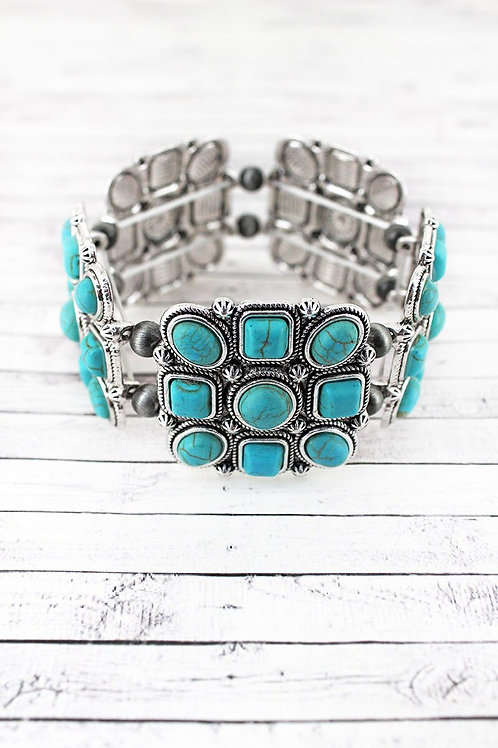 Beaded Navajo Pearl Stretch Bracelet