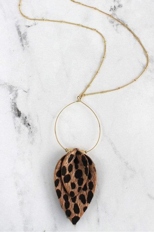 Cheetah Petal Necklace