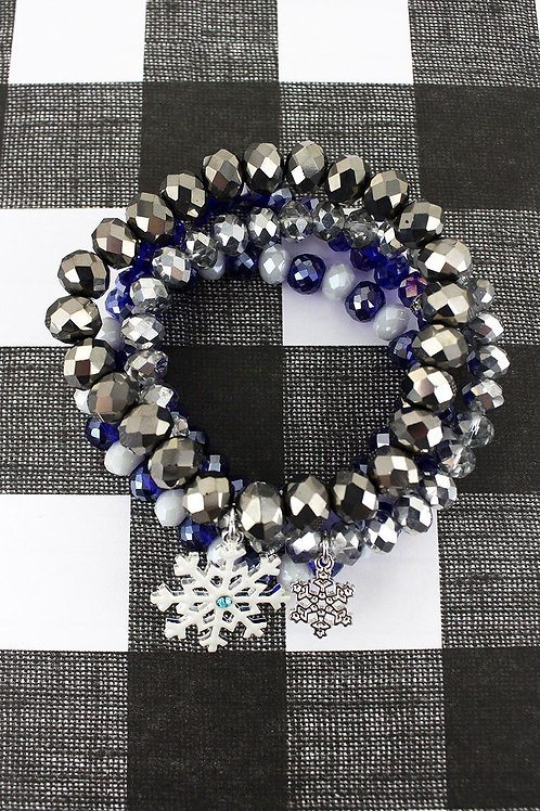 Winter Wonderland Beaded Bracelet Set