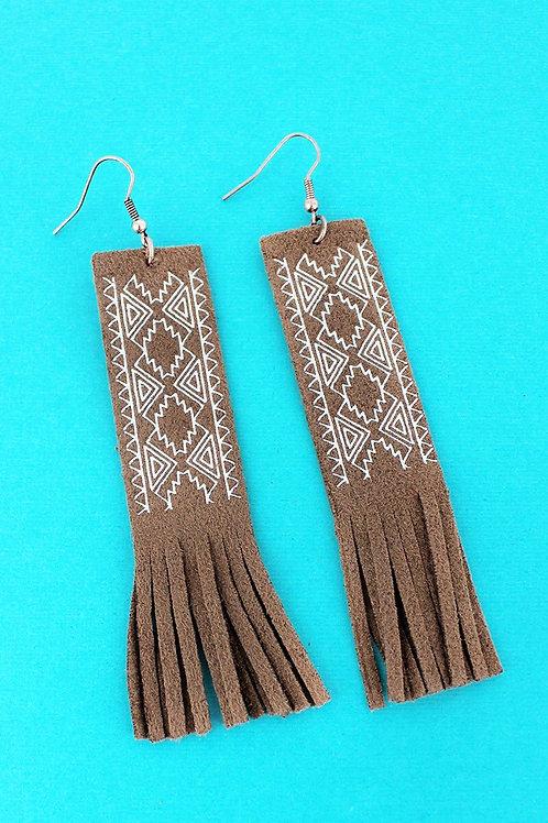 Desert Dance Faux Suede Earrings