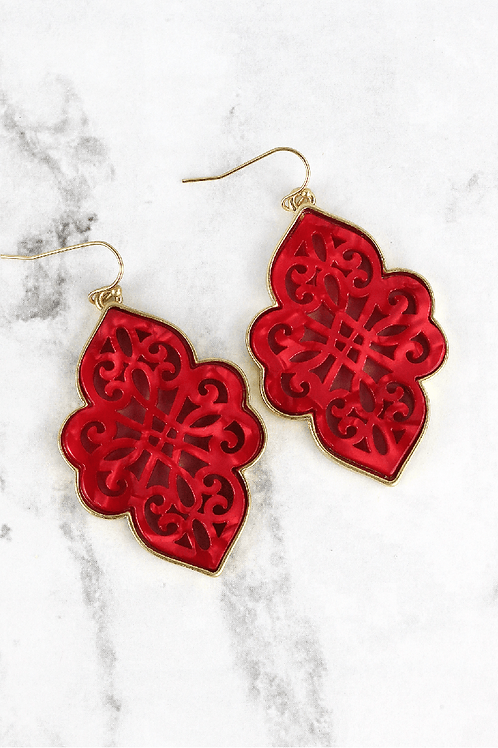 Filigree Moroccan Earrings *Available in 3 colors
