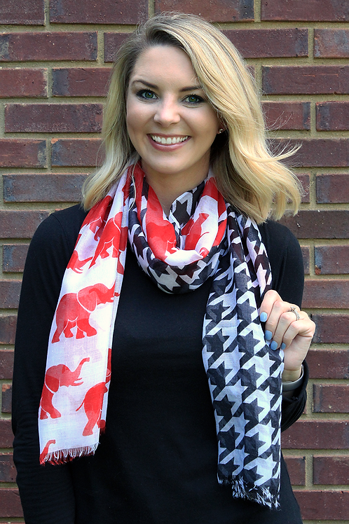 Houndstooth and Trunks Scarf