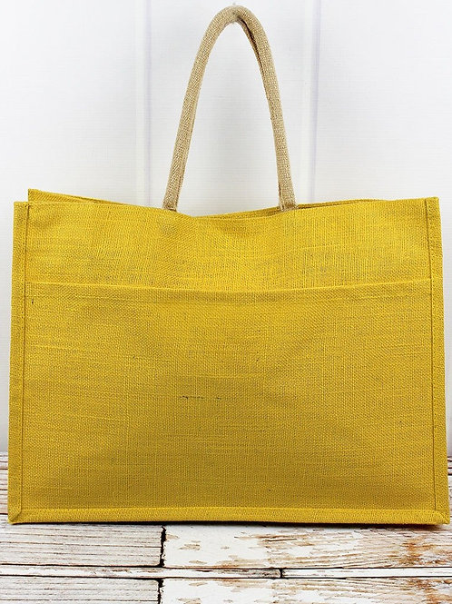Distressed Jute Tote