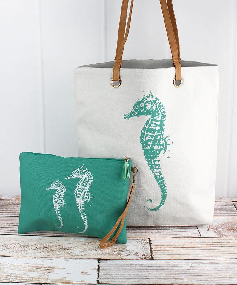 Seahorse Cabo Beach Bag Set