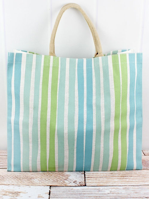 Striped Jute Tote