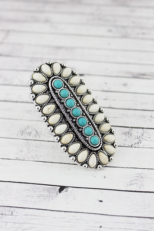 Oval Stone Ring- Available in 2 colors