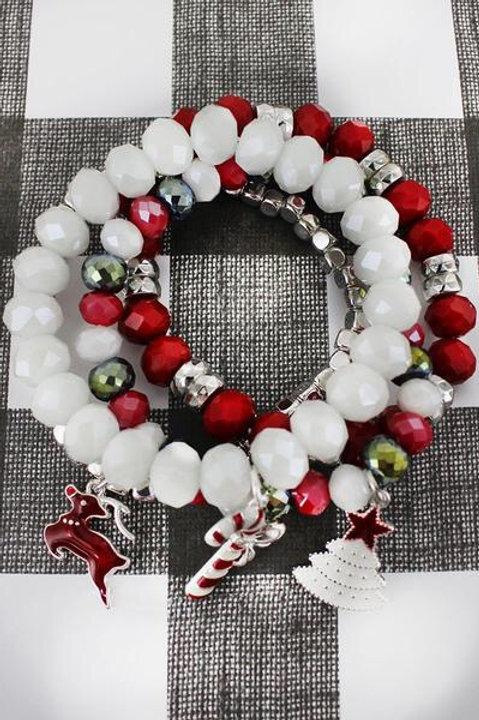 Charm Beaded Bracelet Set