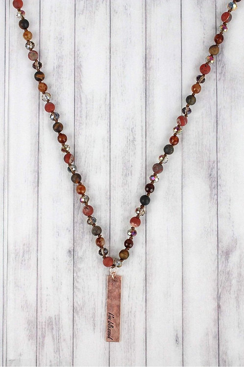 'I'm blessed' Beaded Necklace