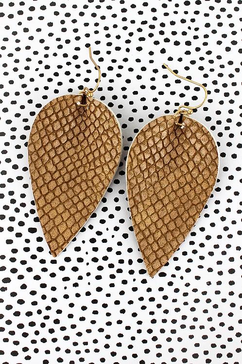 Crave Brand Python Petal Earrings