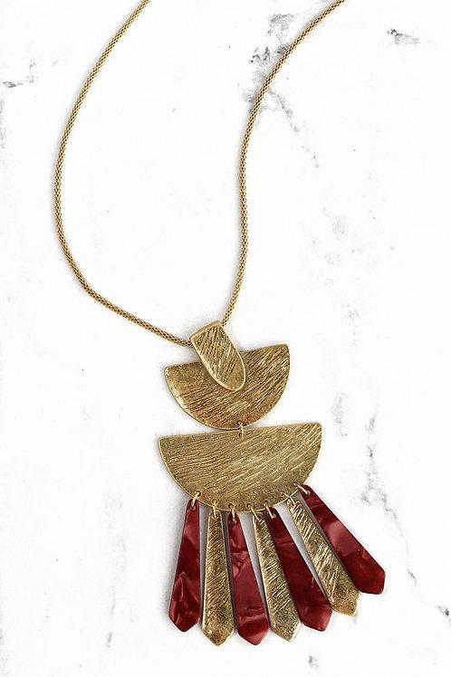 Crave Crimson Fringe Necklace