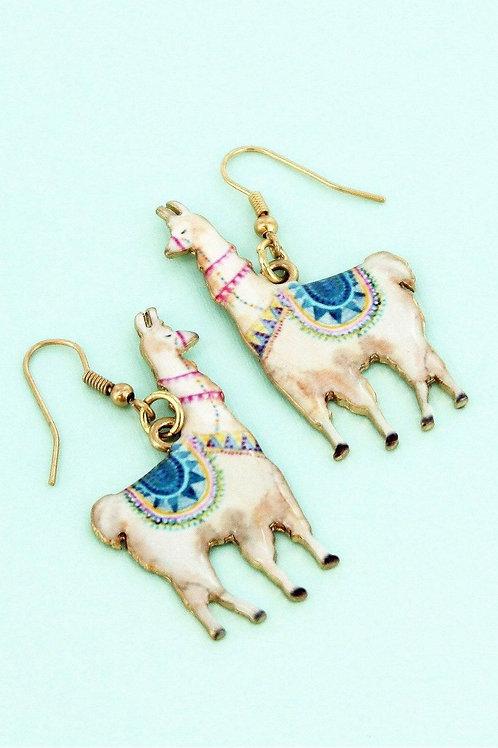 Llama Goldtone Earrings