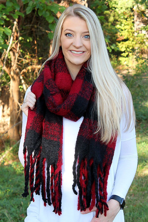 Wyoming Winter Buffalo Plaid Scarves