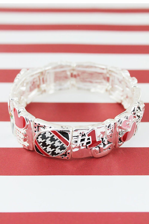 Houndstooth Stretch Bracelet