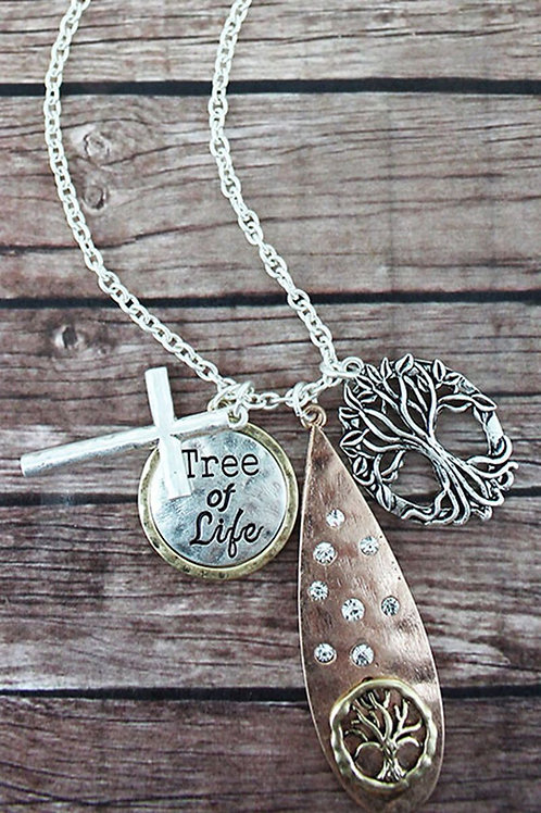 Tree of Life Cluster Pendant Necklace