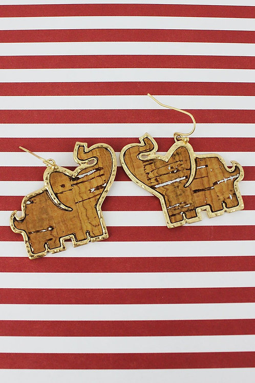 Elephant Cork Earrings