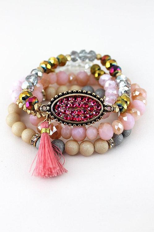 Tassel Charm Bracelet Set