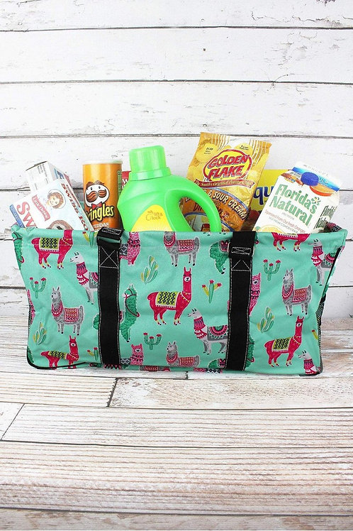No Prob-Llama Collapsable Haul-it-all Basket w/ Mesh Pockets