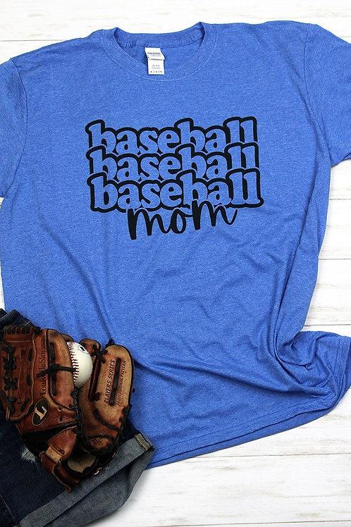 Baseball Mom Heathered Tee