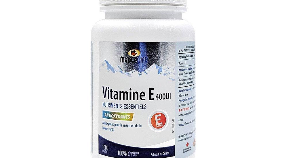 Maplelife Vitamin E 400IU – Natural – 100 softgels