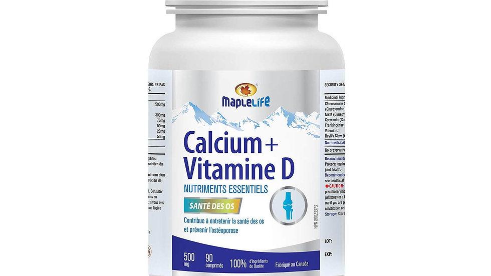 Calcium 500 mg + VitaminD 200 IU