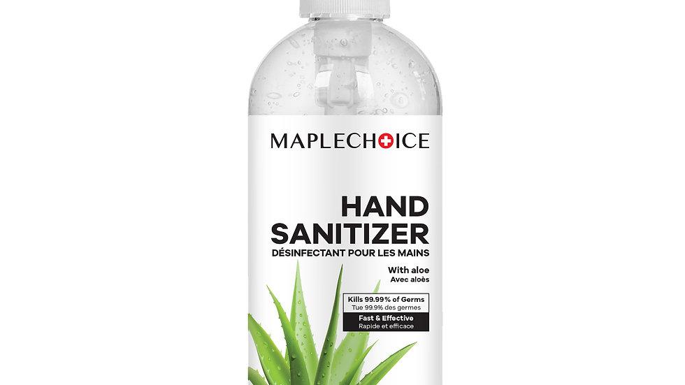 MapleChoice 500 ML Premium Quality Gel Based Hand Sanitizer with Aloe Vera Extra