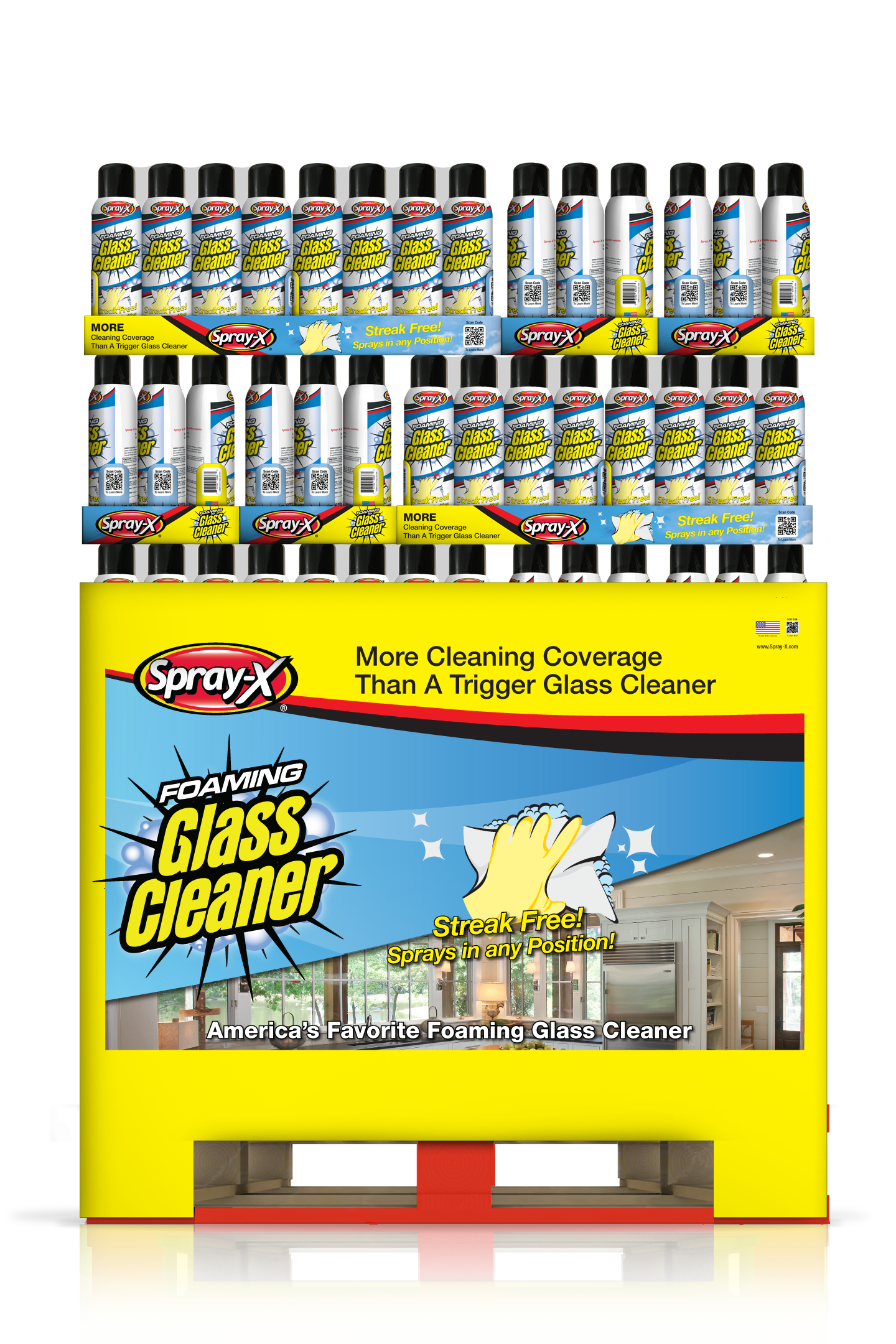 Spray-X Foaming Glass Cleaner 19oz Professional