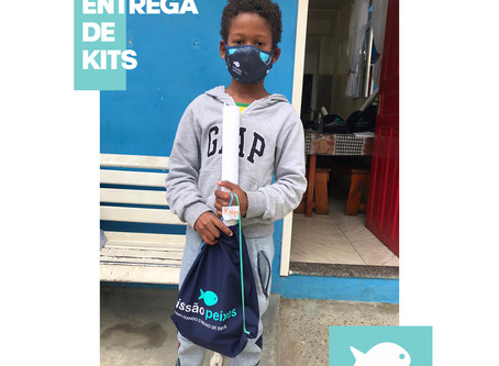 Entrega de kits e máscaras no Projeto CASA Cordoeira e Alto do Floresta