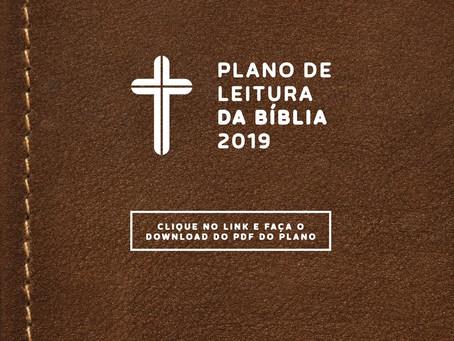 Ano novo novas metas! Plano de Leitura da Bíblia!
