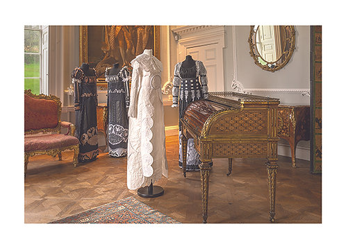 33 - The Regency Wardrobe collection at Firle Place in the Long Gallery